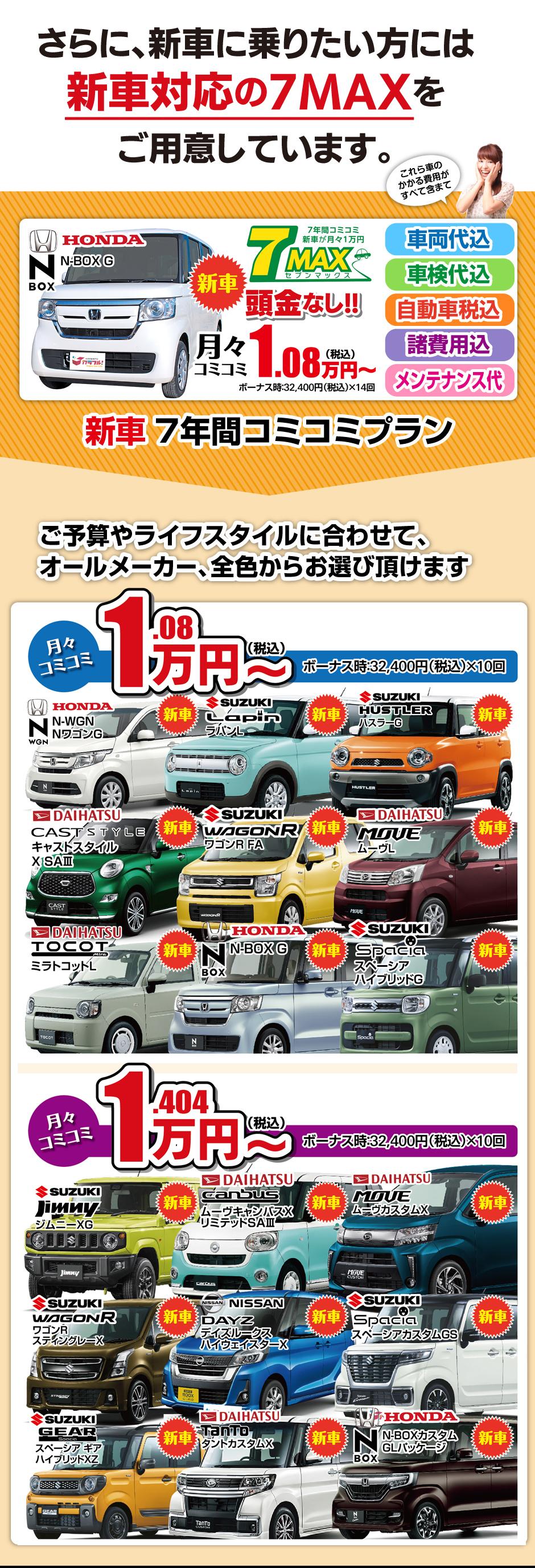 徳島 新車 定額